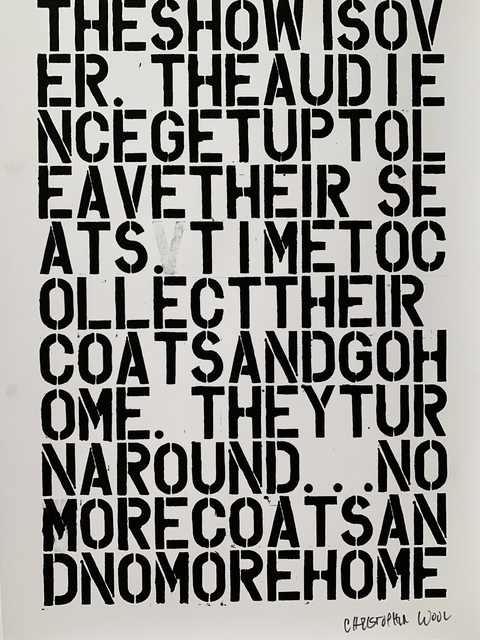 Christopher Wool, 'CHRISTOPHER WOOL & FELIX GONZALEZ-TORRES, UNTITLED LITHOGRAPHIC PRINT', 1992, Arts Limited