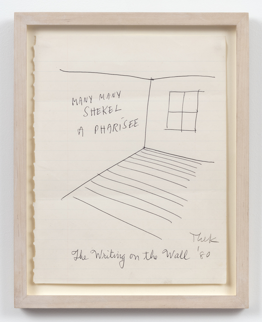 Paul Thek, 'The Writing on the Wall', 1980, Alexander and Bonin