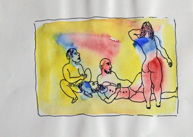 , 'Untitled (Men lying down looking at woman's back),' , The Noble Sage Collection