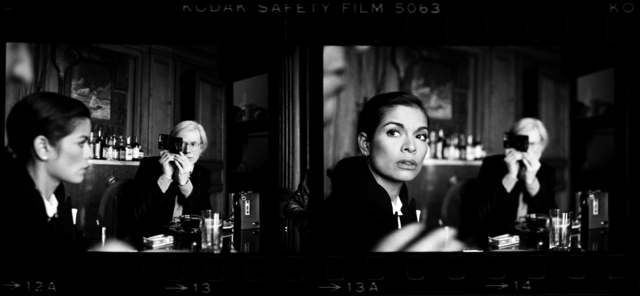 , 'Andy Warhol and Bianca Jagger at The Factory,' 1977, Holden Luntz Gallery