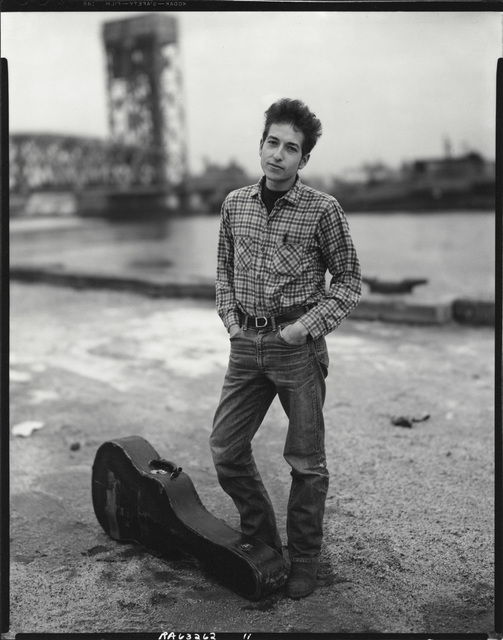 , 'Bob Dylan, singer, 132nd Street and FDR Drive, Harlem,' November 4-1963, Pace/MacGill Gallery
