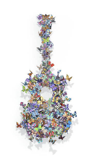 , 'Butterflies Guitar,' 2016, Eden Fine Art