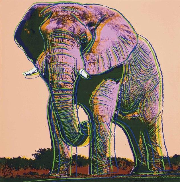Andy Warhol, 'African Elephant II.293', 1983, OSME Fine Art