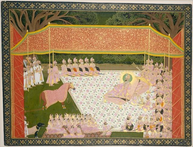 Tara, 'Maharana Sarup Singh Inspects a Prize Stallion', 1845–1846, The Metropolitan Museum of Art