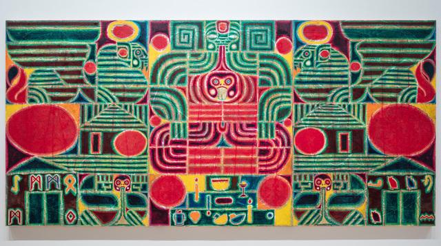 , 'altar of humanity (the symbol has resurrected) worship of mammon,' 2017, Galleri Nicolai Wallner