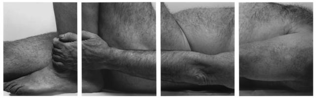 , 'Lying Figure, Holding Leg, Four panels ,' 1990, Galerie Nordenhake