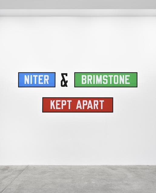, 'NITER & BRIMSTONE KEPT APART,' 1992, Marian Goodman Gallery