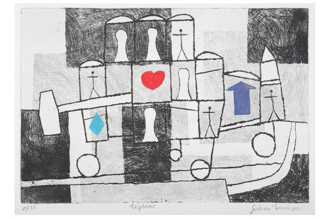 Julian Trevelyan, 'Triplane', Print, Etching and aquatint, Chiswick Auctions