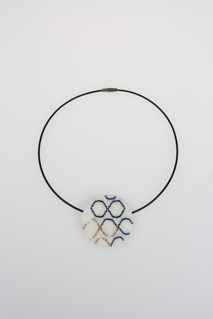 , 'Blue and Pink Circles Circle Pendant,' , Bullseye Projects