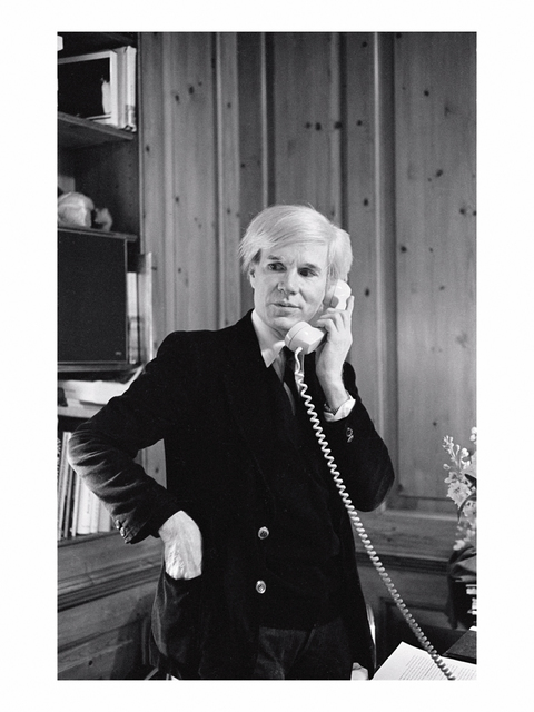 ", '""Andy Warhol on the Telephone"",' 1979, Galerie Pixi - Marie Victoire Poliakoff"