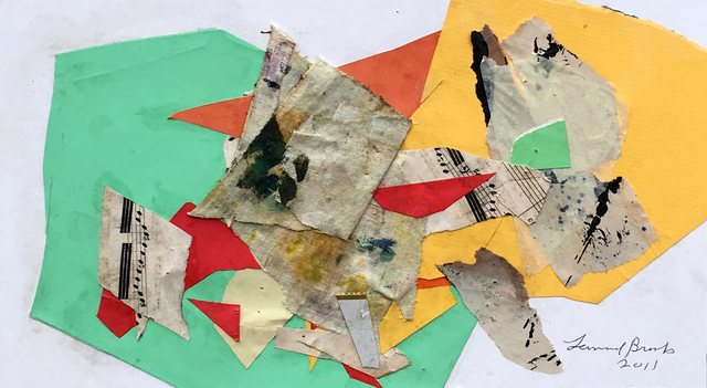 Leonard Brooks, 'Untitled', 2011, Drawing, Collage or other Work on Paper, Collage on card, Rumi Galleries