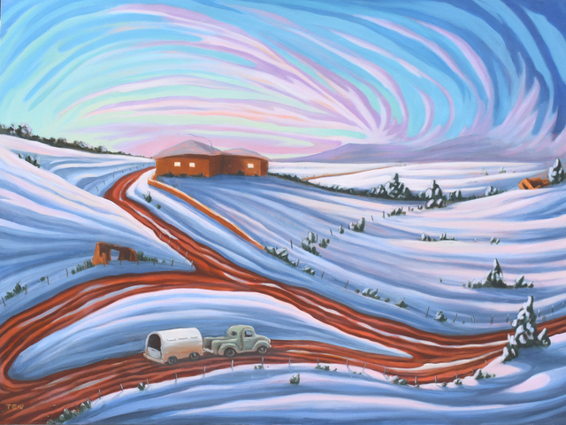, 'Winter Twilight,' , Modernist Frontier