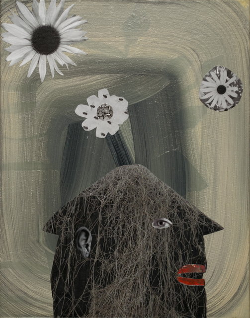 , 'House Face with Flowers,' 2015, Turner Carroll Gallery