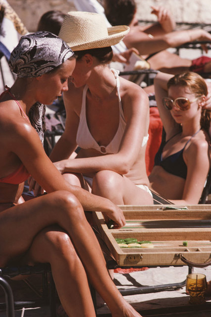 Slim Aarons, 'Backgammon By The Pool', 1975, IFAC Arts