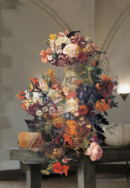 Joonsung Bae, 'The Costume of painter - Still life with human image vase 060608 & Still life with flowers ', 2013, Gallery Skape