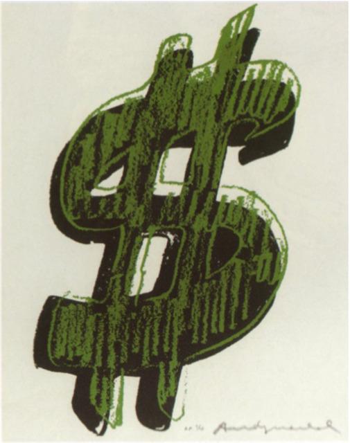 Andy Warhol, '$ (1)', 1982, Print, Screenprint on Lenox Museum Board, Coskun Fine Art