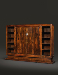 "Émile Jacques Ruhlmann, '""Wiener"" Bookcase Cabinet, model 2039 AR and 2434 NR, variant,' circa 1930, Sotheby's: Important Design"