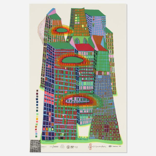 Friedensreich Hundertwasser, 'Good Morning City (Series C)', 1969, Wright