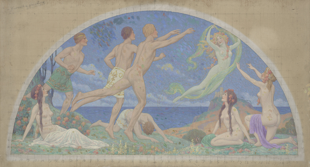 Charles Holloway, 'Study for 'The Pursuit of Pleasure', 1913, de Young Museum