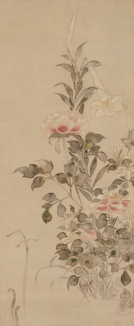 , 'Peonies and Lilies,' Late 17th century, Smithsonian Freer and Sackler Galleries