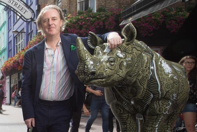 Adam Dant, 'A.D.'S Rhino', 2018, Sculpture, Rhino: fibreglass rhino (fire retardant) with internal armature Finish: Gouache, Tusk Benefit Auction