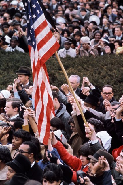 , 'American Flag, Civil Rights Protest in Front of the White House, Washington, DC,' 1965, KP Projects
