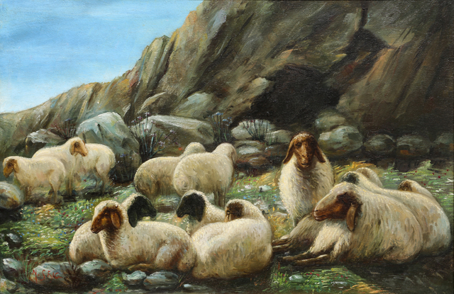 , 'Untitled, (Sheep in the Fields),' ca. 1920, Gallery One