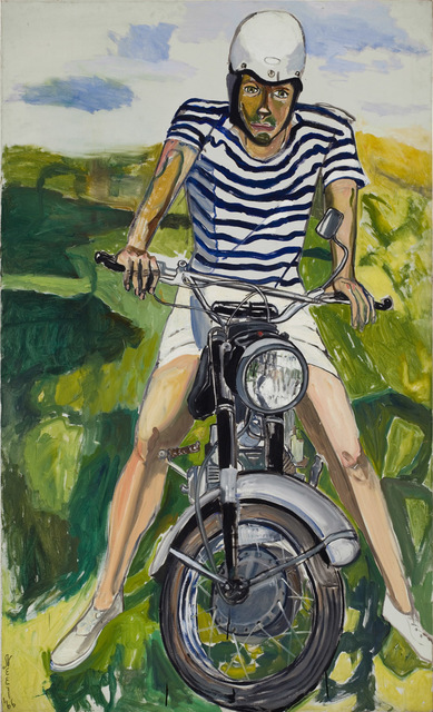, 'Hartley on the Motorcycle,' 1966, Aurel Scheibler