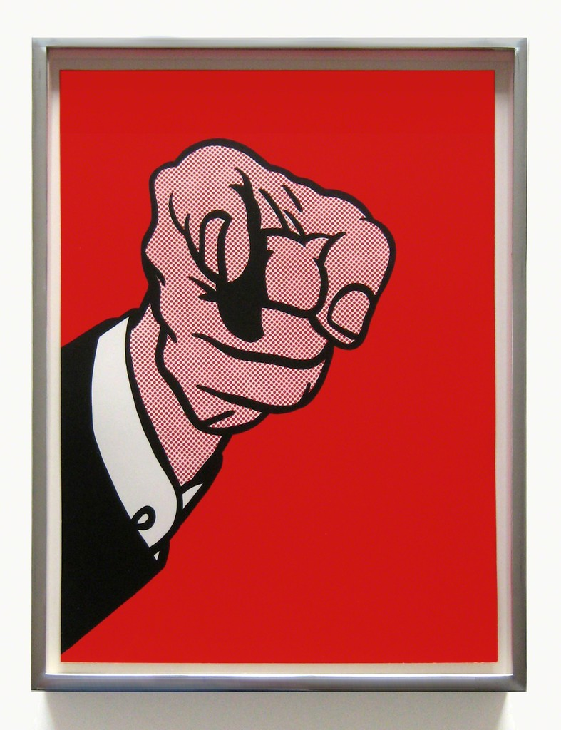 Roy Lichtenstein Finger Pointing (Corlett 126), 1973, color screenprint