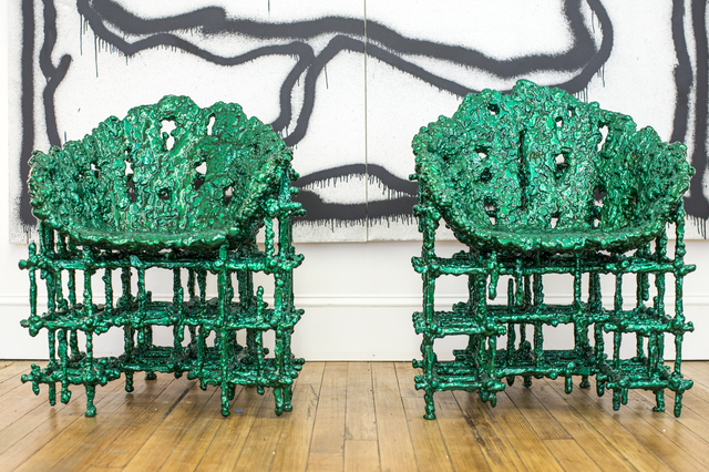 , 'Alufoil chairs,' 2015, Johnson Trading Gallery