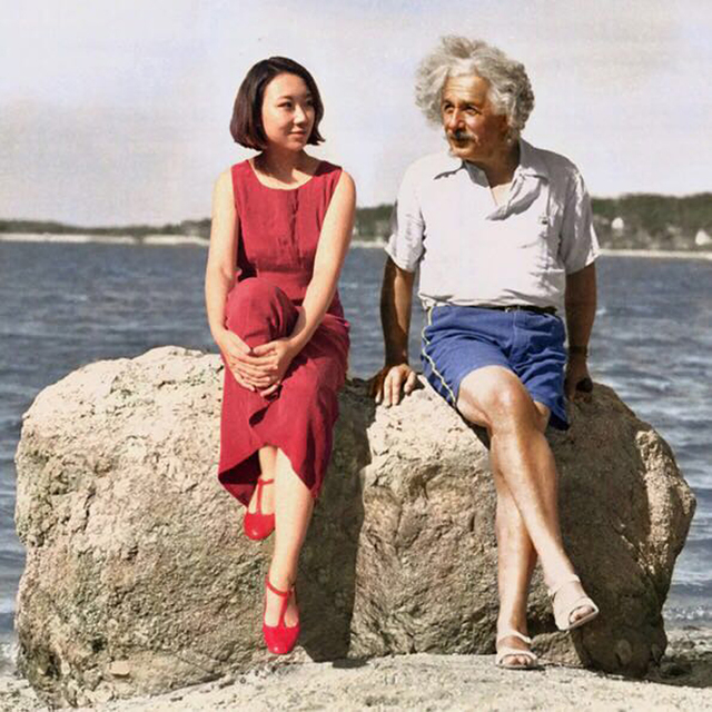 , 'Albert Einstein & Celine Liu ,' 2014, Migrant Bird Space