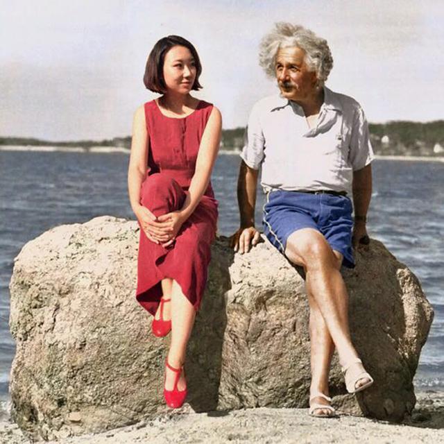 , 'Albert Einstein & Celine Liu ,' 2014, MO-Industries