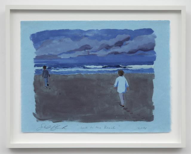 Sebastian Blanck, 'Walk to the Beach', 2014, Print, Monoprint, Dubner Moderne