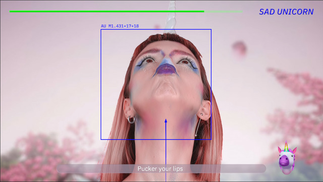 , 'Deep Digital Twin - Facial Yoga,' 2018, Data Rhei