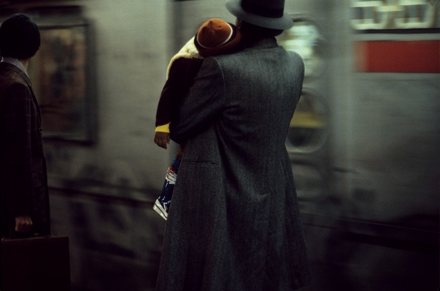 , 'Father and child in subway, New York,' 1984, GALLERY FIFTY ONE