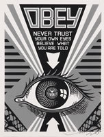 Shepard Fairey, 'OBEY (Never Trust Your Own Eyes)', 2009, Contemporary Art and Editions