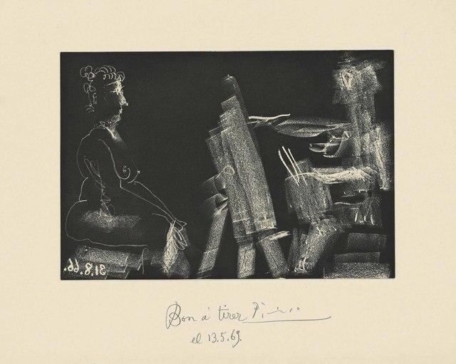 Pablo Picasso, 'Plate 13, from: El Entierro del Conde de Orgaz', 1966, Christie's