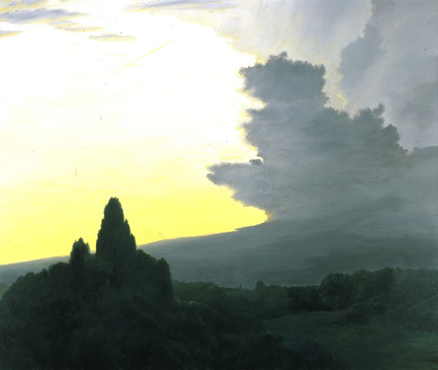 April Gornik, 'Divided Sky', 1983, Painting, Oil on canvas, Blanton Museum of Art
