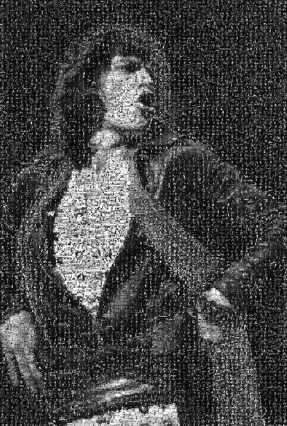 , 'Mick Jagger Hands on Hips Mosaic,' , Mouche Gallery
