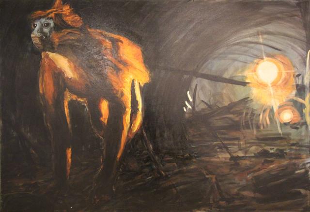 , 'Sin titulo (chango en túnel),' 2012, Galería Quetzalli