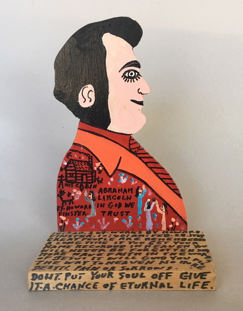 Howard Finster, 'Abraham Lincoln', 1989, Beatrice Wood Center for the Arts