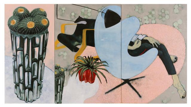 , 'Big Cactus, Little Cactus (Triptych),' 2017, Galerie Huit