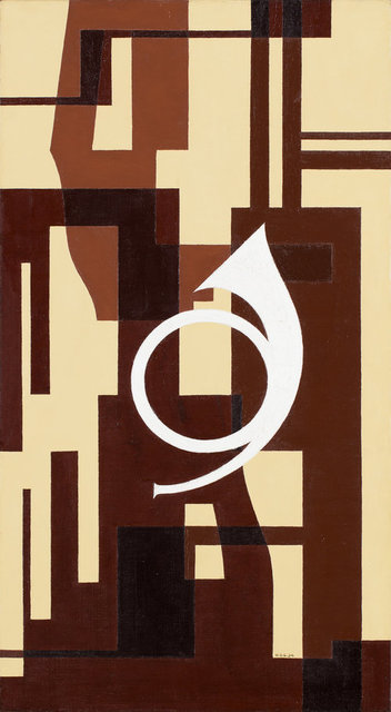 , 'Fuga i brunt – Projekt till väggmålning för musikrum (Fugue in brown - Project to mural for musicroom),' 1934, CFHILL