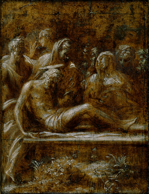 Francesco Mazzola, called Parmigianino, 'The Entombment of Christ', 1525, Blanton Museum of Art