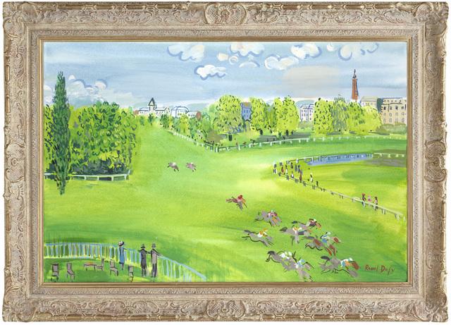 John Myatt, 'The Racecourse At Longchamps', 2011, Print, Hand finished atelier, Castle Fine Art