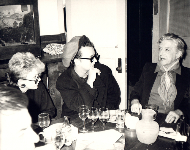 Andy Warhol, 'Andy Warhol, Photo of Judith Krantz, Boy George and Quentin Crisp circa 1986', ca. 1986, Hedges Projects