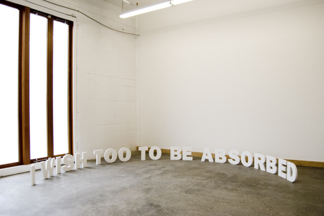 , 'I Wish Too To Be Absorbed,' 2010, Galeri NON