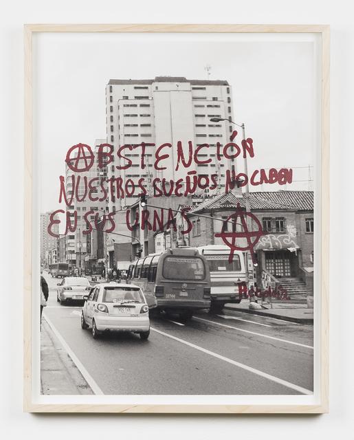 , 'Abstención nuestros sueños no caben en sus urnas (Gráfica reportes de condición),' 2010, PROYECTOSMONCLOVA