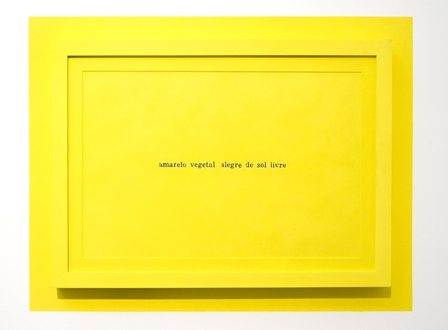 , 'Amarelo, João (Amarelo vegetal alegre de sol livre),' 2013, Silvia Cintra + Box 4