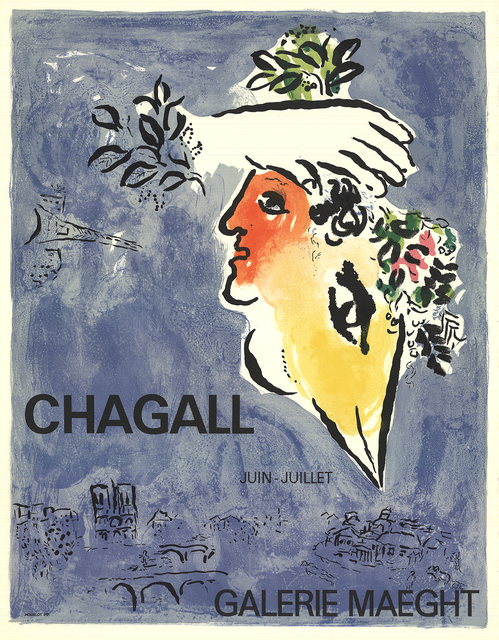 Marc Chagall, 'The Blue Sky', 1964, Print, Color Lithograph, ArtWise